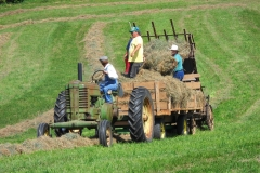 Hayloading demonstration