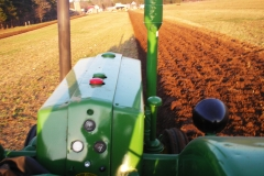 Plowing - drivers view
