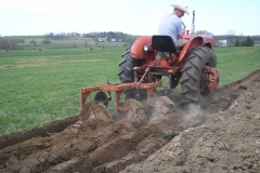 Scott S plowing with an Allis
